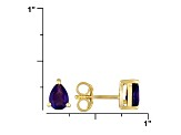 Purple Amethyst 18k Yellow Gold Over Silver Earrings 1.50ctw
