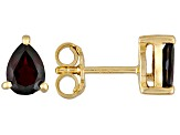 Red Garnet 18k Yellow Gold Over Silver Earrings 1.70ctw