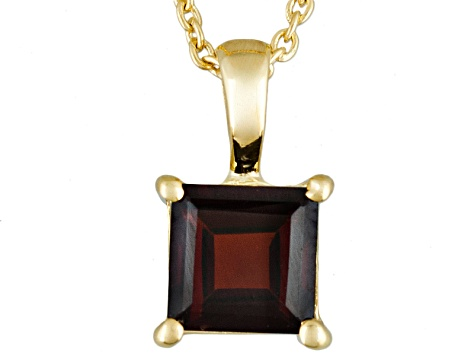 Red Garnet 18k Yellow Gold Over Sterling Silver 1.00ct