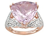 Orchid Amethyst 18k Rose Gold Over Sterling Silver Ring 9.08ctw