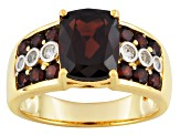 Red Garnet 18k Gold Over Silver Ring 4.95ctw