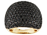 Black Spinel 18k Yellow Gold Over Sterling Silver Ring 7.66ctw
