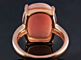 Pink Peruvian Opal 18k Rose Gold Over Sterling Silver Ring