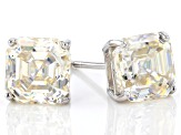 White Lab Created Strontium Titanate 14k White Gold Earrings 5.25ctw