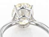 White Lab Created Strontium Titanate 14k White Gold Ring 3.31ct