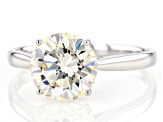White Fabulite Strontium Titanate 14k White Gold Ring 3.43ct
