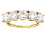 White Strontium Titanate 14k Yellow Gold Ring 3.04ctw