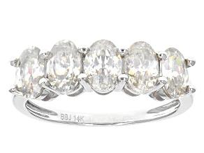 White Fabulite Strontium Titanate 14k White Gold Ring 2.52ctw