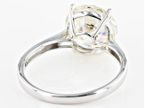 White Lab Created Strontium Titanate 14k White Gold Ring 4.74ct