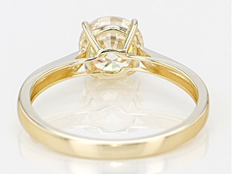 White Strontium Titanate 14k Yellow Ring 1.64ct