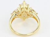 Fabulite Strontium Titanate 18k Yellow Gold Over Silver Ring 5.34ctw