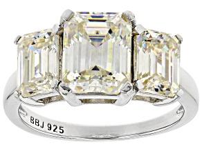 Fabulite Strontium Titanate  Rhodium Over Silver Ring 5.48ctw
