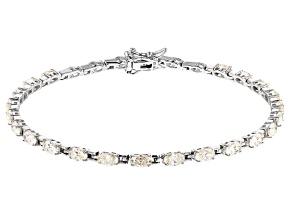Fabulite Strontium Titanate Rhodium Over Sterling Silver Bracelet 6.55ctw.