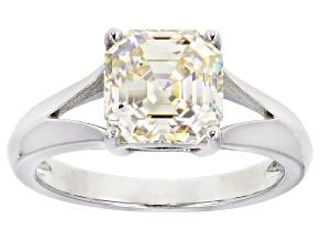 Fabulite Strontium Titanate rhodium over sterling silver ring 2.40ct