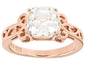 Fabulite Strontium Titanate 18k rose gold over sterling silver ring 3.25ct.