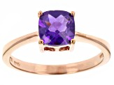 Purple Brazilian Amethyst 18k Rose Gold Over Silver Ring 1.02ct