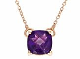 Purple Brazilian Amethyst 18k Rose Gold Over Silver Necklace 1.17ct