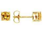 Yellow Citrine 18k Yellow Gold Over Silver Earrings .99ctw