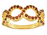 Red Garnet 18k Yellow Gold Over Sterling Silver Ring .80ctw
