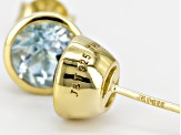 Blue Topaz 18k Yellow Gold Over Sterling Silver Earrings 1.75ctw