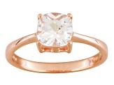 White Topaz 18k Rose Gold Over Sterling Silver Solitaire Ring 1.65ct