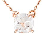 White Topaz 18k Rose Gold Over Sterling Silver Necklace 1.65ct
