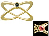Lab Alexandrite 18k Yellow Gold Over Sterling Silver Ring .10ct