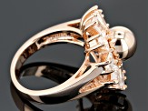 White Zircon 18k Rose Gold Over Sterling Silver Ring 2.53ctw