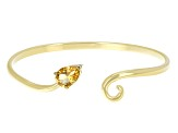 Yellow Citrine 18k Yellow Gold Over Silver Bangle 1.26ctw
