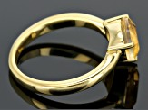 Yellow Citrine 18k Yellow Gold Over Silver Ring 1.18ct