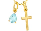 Sky Blue Topaz 18k Yellow Gold Over Silver .73ct