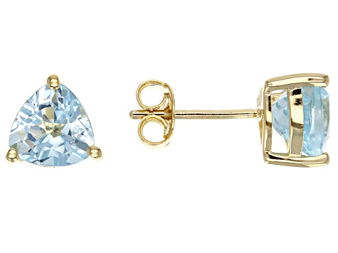 Sky Blue Topaz 18k Yellow Gold Over Silver Earrings 2.78ctw