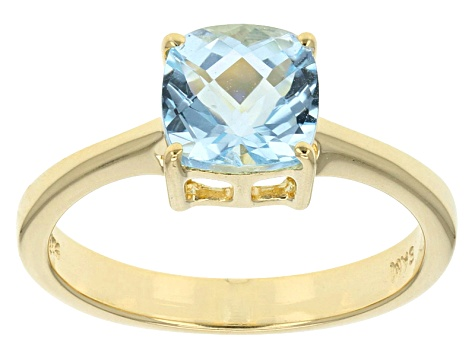 Sky Blue Topaz 18k Yellow Gold Over Sterling Silver Ring 2.15ct