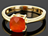 Orange Carnelian 18k Gold Over Silver Ring 1.35ctw
