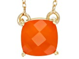 Orange Carnelian 18k Gold Over Silver Necklace 7mm