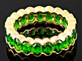 Green Chrome Diopside 18k Gold Over Silver Eternity Band 4.46ctw