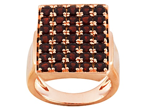 Red Garnet 18k Rose Gold Over Silver Ring 2.60ctw