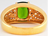 Green Chrome Diopside 18k Gold Over Silver Ring 1.83ctw