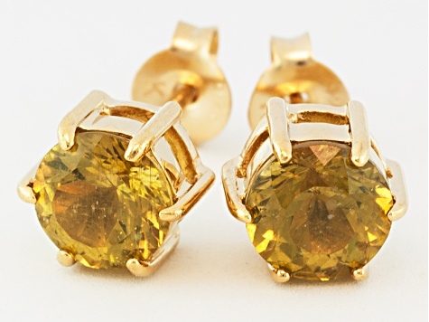 Yellow Apatite 18k Gold Over Silver Stud Earrings 1.44ctw