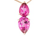 Pink Topaz 18k Rose Gold Over Silver Pendant With Chain 5.55ctw
