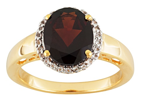 Red Garnet 18k Gold Over Sterling Silver Ring 2.64ctw