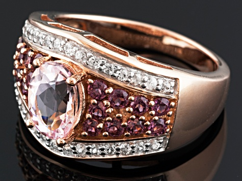 Pink Morganite 18k Rose Gold Over Silver Ring 1.99ctw