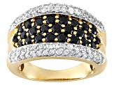 Black Spinel 18k Gold Over Silver Ring 2.70ctw