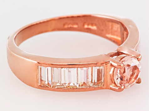 Pink Morganite 18k Rose Gold Over Silver Ring 1.48ctw