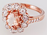 Pink Morganite 18k Rose Gold Over Silver Ring 1.66ctw