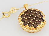 Brown Smoky Quartz And Yellow Sapphire Pendant With Chain 2.10ctw