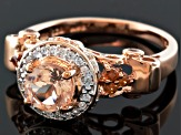 Pink Morganite 18k Rose Gold Over Silver Ring 1.16ctw