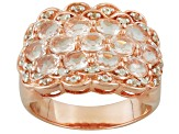 Pink Morganite 18k Rose Gold Over Silver Ring 2.15ctw