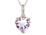 Orchid Brazilian Amethyst 18k Rose Gold Over Silver Pendant With Chain 5.03ctw