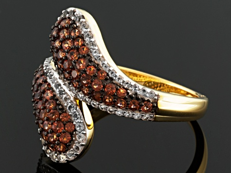 Red Garnet 18k Gold Over Silver Ring 1.78ctw